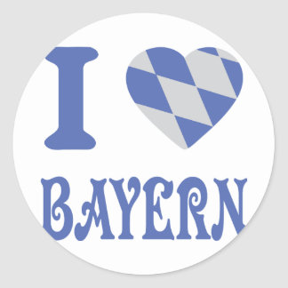 I love bayern icon classic round sticker
