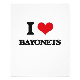 I Love Bayonets Flyer Design