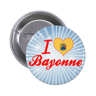 I Love Bayonne New Jersey Buttons