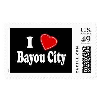 I Love Bayou City Stamp
