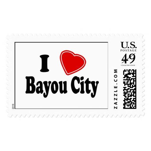 I Love Bayou City Stamps