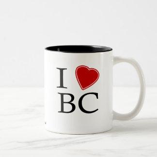 I Love Bayou City Two-Tone Coffee Mug