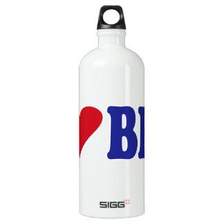 I Love BBQ Aluminum Water Bottle
