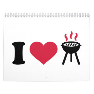 I love BBQ barbecue Calendar
