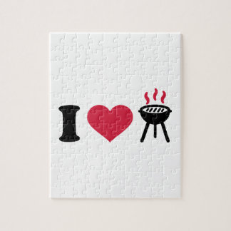 I love BBQ barbecue Jigsaw Puzzles