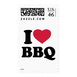 I love BBQ - Barbecue Postage Stamps
