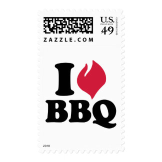 I love BBQ - Barbecue Stamps