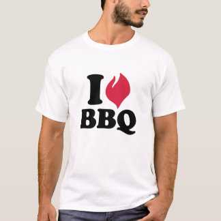 I love BBQ - Barbecue T-Shirt
