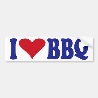 I Love BBQ Bumper Sticker