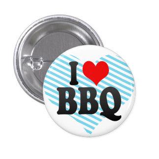 I love BBQ Pinback Button