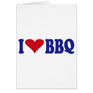 I Love BBQ Card