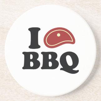 I Love BBQ Coaster
