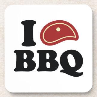 I Love BBQ Beverage Coaster