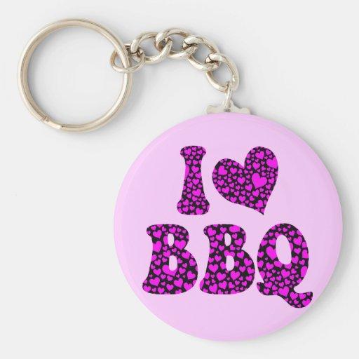 I love bbq keychain