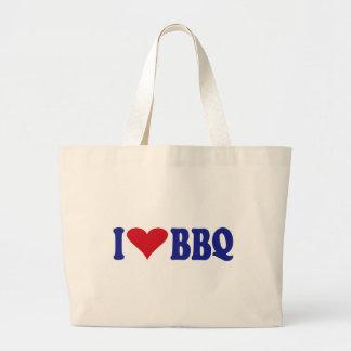 I Love BBQ Large Tote Bag
