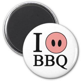 I Love BBQ Magnet