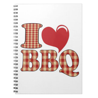I Love BBQ Notebook