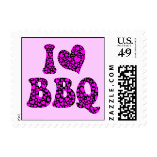 I love bbq postage stamps