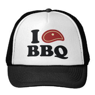 I Love BBQ Trucker Hat