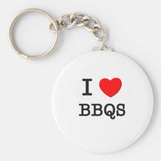 I Love Bbqs Basic Round Button Keychain