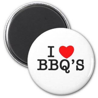 I Love BBQ'S ( food ) Refrigerator Magnet
