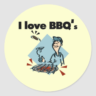 I Love BBQs T-shirts and Gifts Classic Round Sticker