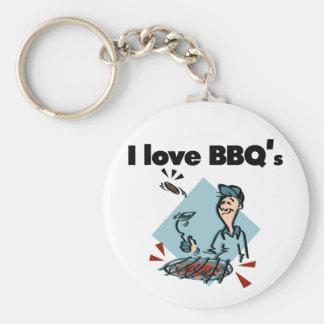 I Love BBQs T-shirts and Gifts Key Chains