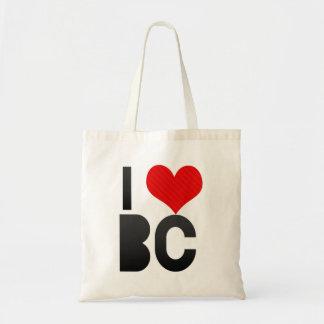 I Love BC Tote Bag