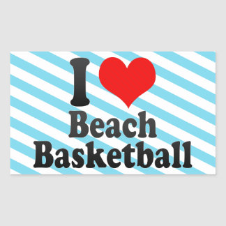 I love Beach Basketball Stickers