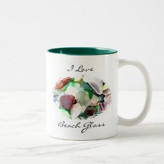 I Love Beach Glass Mug