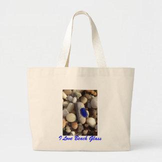 I Love Beach Glass Tote Tote Bags