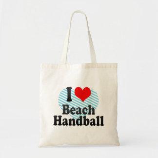 I love Beach Handball Canvas Bags