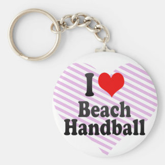 I love Beach Handball Key Chains