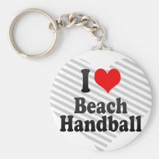 I love Beach Handball Keychain