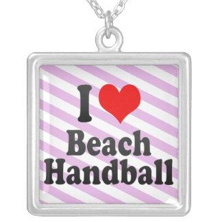 I love Beach Handball Pendant