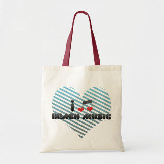 I Love Beach Music Budget Tote Bag