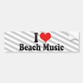 I Love Beach Music Car Bumper Sticker
