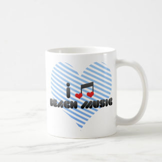 I Love Beach Music Classic White Coffee Mug