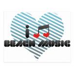 I Love Beach Music Post Card