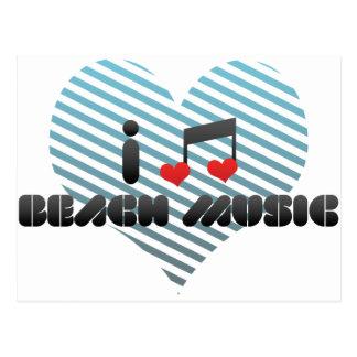I Love Beach Music Postcard