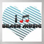 I Love Beach Music Poster