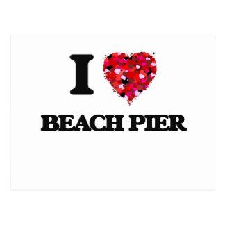 I love Beach Pier New Jersey Postcard