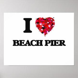 I love Beach Pier New Jersey Poster