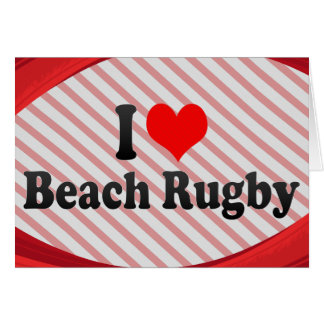 I love Beach Rugby Stationery Note Card