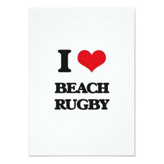 I Love Beach Rugby 5x7 Paper Invitation Card