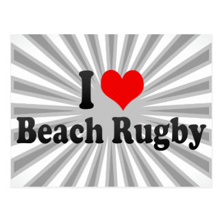I love Beach Rugby Postcard