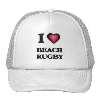 I Love Beach Rugby Trucker Hat