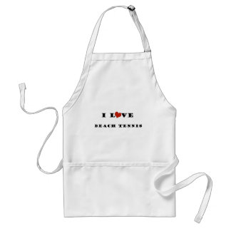 I Love Beach Tennis.png Adult Apron