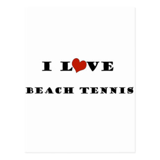 I Love Beach Tennis.png Postcard