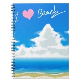 I Love Beach (Text) Notebook